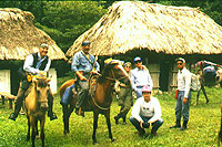Jungle horseback Riding into Dos Pilas - photo by Willy Alejos - Maya Expeditions